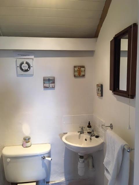 Cornish Holiday Cottage Bathroom at Molvenny
