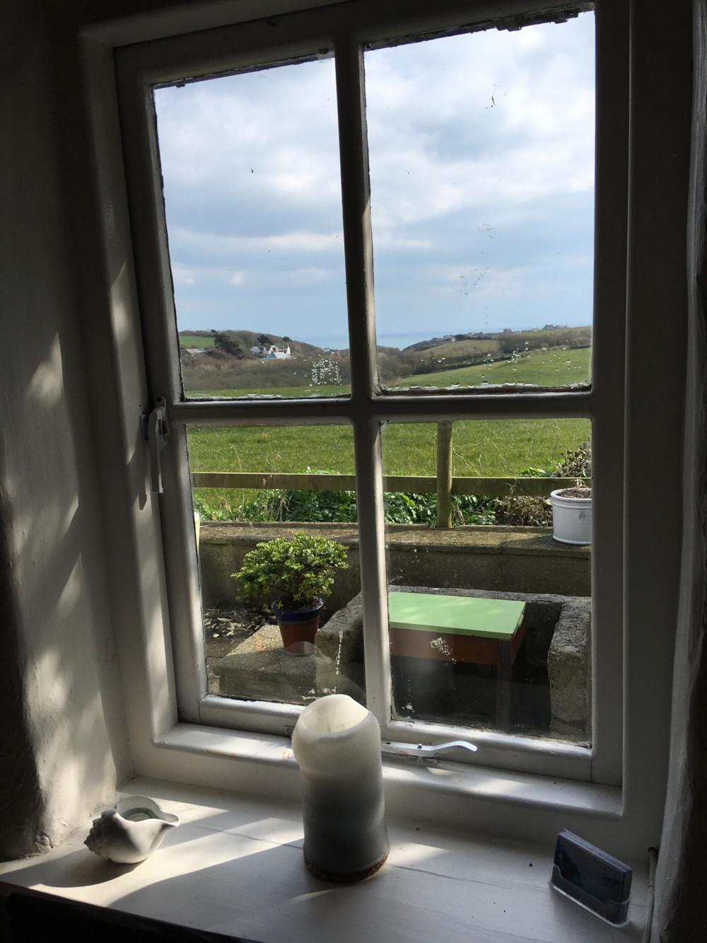 Across Cornish fields to the sea
