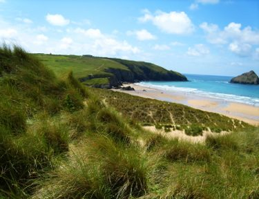 Dunes_@_Holywell_Bay_-_panoramio from wikimedia need to attribute owner