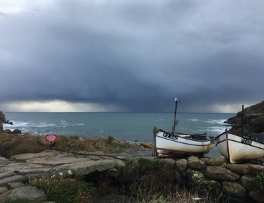 Slide 6 Exciting stormy seas perfect for a bracing walk before a cosy night by the fire