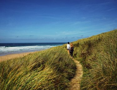 perranporth beach and walk on the dunes deeper color